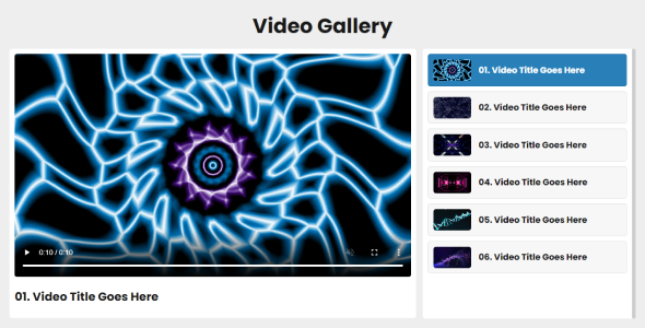 Moro - Custom Video Playlist Gallery
