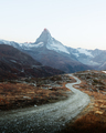 Picturesque view of Matterhorn peak and Stellisee lake in Swiss Alps - PhotoDune Item for Sale