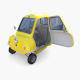 Peel P50 Yellow with interior and chassis - 3DOcean Item for Sale
