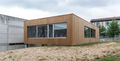 Modern Contemporary building with wood cladding - PhotoDune Item for Sale