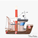 Cartoon Mini Boat 3 - 3DOcean Item for Sale