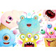 Cute Monsters Characters Background for Kids - GraphicRiver Item for Sale