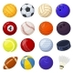 Cartoon Sport Balls Different Sports Games - GraphicRiver Item for Sale