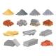 Cartoon Construction Building Materials Sand - GraphicRiver Item for Sale
