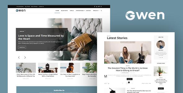 Download Gwen - Blog and Magazine Joomla Theme Nulled