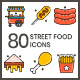 75 Street Food Icons | Aesthetics Series - GraphicRiver Item for Sale