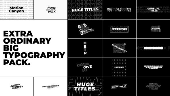 Extraordinary Big Typography.