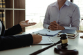 Lawyer is giving advice to clients who have consulted about legal issues - PhotoDune Item for Sale