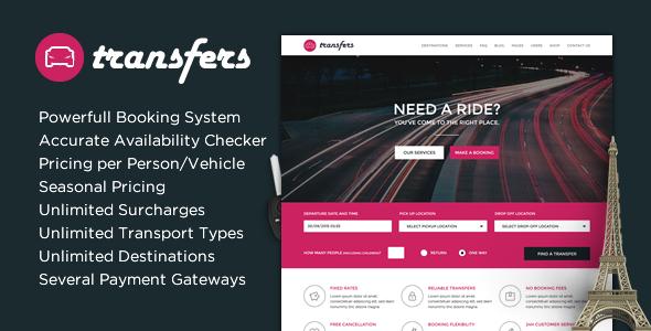 Transfery - Transport i wynajem samochodów Motyw WordPress