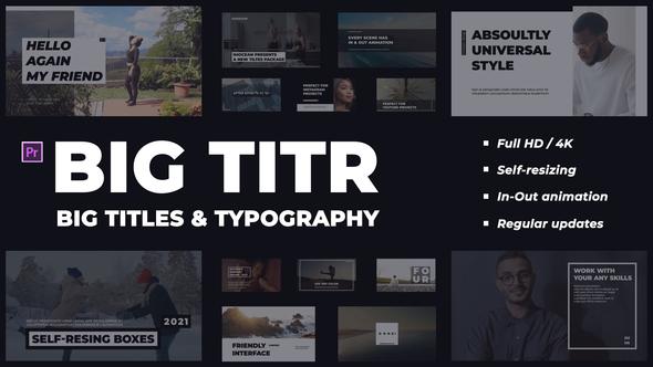 BIG TITR | Big Titles & Typography | Premiere Pro