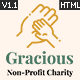 Gracious - Charity and Donation HTML Template - ThemeForest Item for Sale