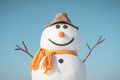 Funny snowman in stylish red hat - PhotoDune Item for Sale