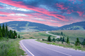 Curvy mountain road serpentine in summer mountains - PhotoDune Item for Sale