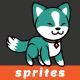 Teal Shiba Inu Game Sprites - GraphicRiver Item for Sale