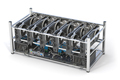 Mining farm from graphics cards GPU standing in a row isolated on white - PhotoDune Item for Sale