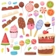 Cartoon Candy and Desserts Cookies Lollipops - GraphicRiver Item for Sale
