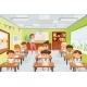 Cartoon Teacher with Pupils School Kids Sitting - GraphicRiver Item for Sale
