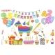 Cartoon Birthday Celebration Decoration Kid Party - GraphicRiver Item for Sale