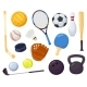 Cartoon Sports Equipment Different Ball Games - GraphicRiver Item for Sale