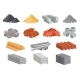 Cartoon House Building Materials Industrial - GraphicRiver Item for Sale