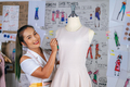Young Asian Fashion Designer female in tailor shop - PhotoDune Item for Sale