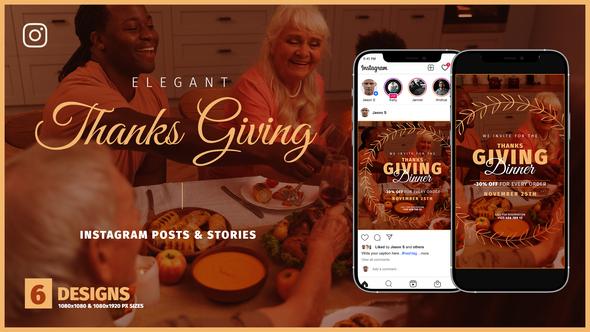 Thanksgiving Day Instagram Promo B136