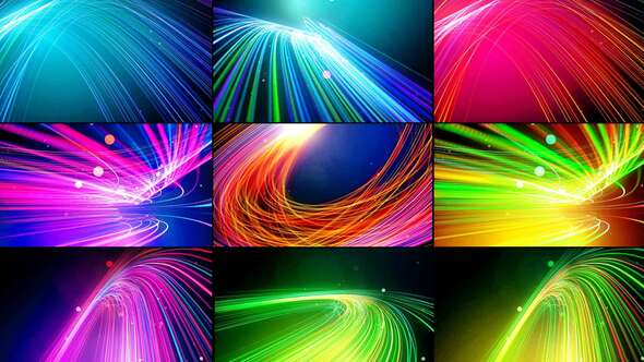 Abstract Line Particles Pack