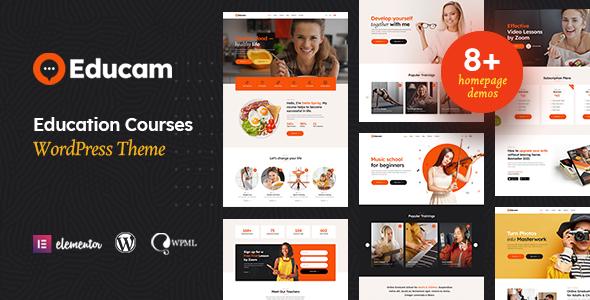 Educam - Education Online Courses WordPress Theme