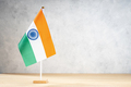 India table flag on white textured wall - PhotoDune Item for Sale