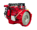 New Powerful Diesel Car Red Engine Isolated on White Background - PhotoDune Item for Sale