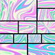 Holographic Wavy Background Set - GraphicRiver Item for Sale