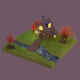 Autumn house low poly - 3DOcean Item for Sale