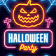 Halloween Neon Flyer - GraphicRiver Item for Sale