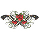 Two Guns and Roses with Thorns Tattoo - GraphicRiver Item for Sale