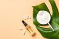 Collagen powder dietary supplement at blue - PhotoDune Item for Sale