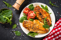 Grilled chicken fillet at white plate - PhotoDune Item for Sale