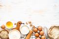 Baking ingredients at white wooden table - PhotoDune Item for Sale