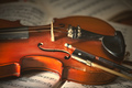 Violin and bow - PhotoDune Item for Sale