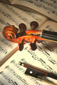 Violin with bow - PhotoDune Item for Sale