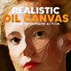 Real Oil Canvas Painting Action - GraphicRiver Item for Sale