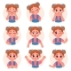 Cute Child Girl Avatar Facial Emotions - GraphicRiver Item for Sale