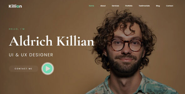 Killian - Personal Portfolio Template