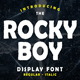 Rocky Boy Display Font - GraphicRiver Item for Sale