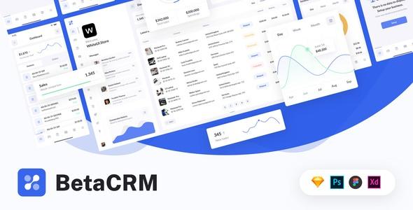 BetaCRM - UI Kit for SaaS Admin Dashboards