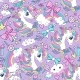 Vector Seamless Pattern with Cute Unicorns and - GraphicRiver Item for Sale