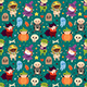 Children in Halloween Costumes of Spooky Creatures. Day of Dead Holiday Seamless Pattern. - GraphicRiver Item for Sale