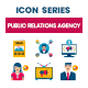 80 Public Relations Agency Icons | Dualine Flat Series - GraphicRiver Item for Sale