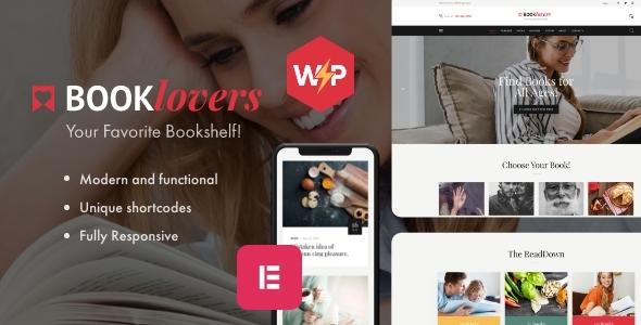 Booklovers - Wydawnictwo i księgarnia Motyw WordPress