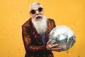 Crazy senior man having fun doing party during holidays time - PhotoDune Item for Sale