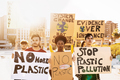 Group demonstrators protesting against plastic pollution and climate change - PhotoDune Item for Sale